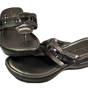 Cole Haan NikeAir Sandals Womens Size 7 B Metallic